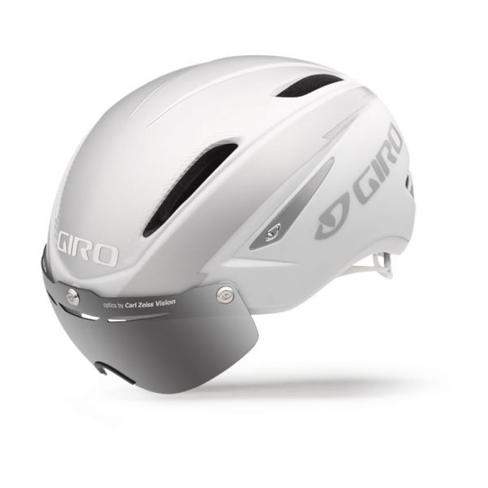 HELM GIRO A. ATTACK SHIELD Wit-ZILVer MAAT L